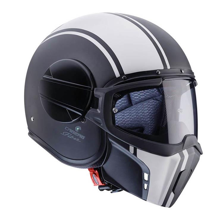 Casco Caberg Ghost Legend Negro Mate Blanco para moto