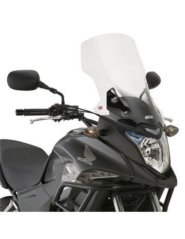 Cúpula moto Givi D1121ST sobre elevada alta CB 500 X 2013-2018