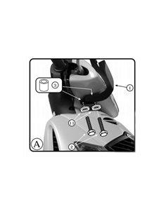 Kit anclajes cupula Honda SH 125I-150I 2005-2008 Givi A311A