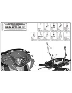 Kit anclajes para cupula Honda SH 125I-150I 2009-2012 Givi A315A