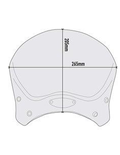 Cupula Universal Givi Aluminio Anodizado 100AL