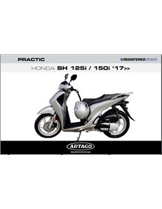 Candado Antirrobo Honda SH125 2017-2019 Artago Pratic MP