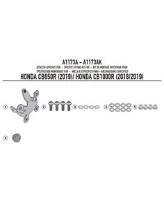 Kit especifico cupula Honda CB650R 2019 CB 1000 R 2018-2019 Givi A1173A