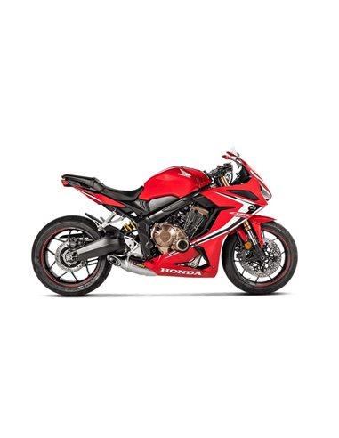 Escape completo Honda CB650R CBR650R 2019-2020 y CB650F CBR650F 2014-2018  Akrapovic Racing Line Titanio S-H6R11-AFT