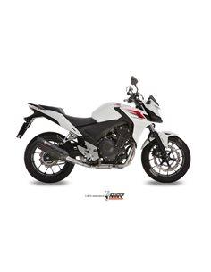 Escape Honda CB500F CB500X CBR500R 2013-2015 Mivv H.051.L9 Suono Inox Black