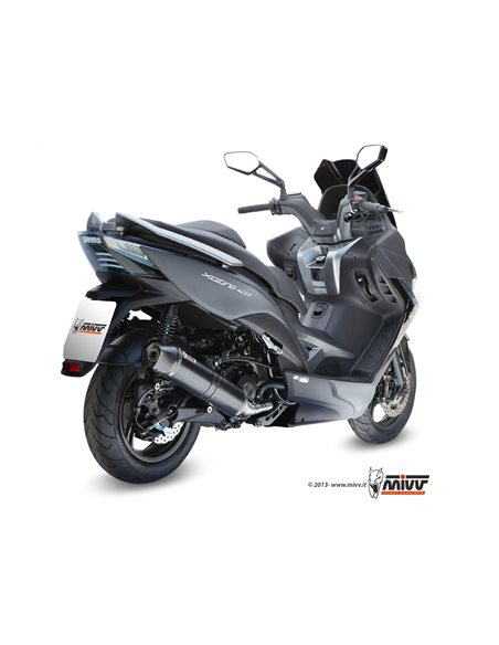 Escape completo Mivv O.004.LBSC Kymco Xciting 400 2013-2016 Stronger Black