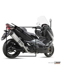Escape Yamaha T-MAX 500 2008-2011 mivv Speed Edge inoxidable