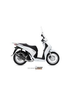 Escape completo Honda SH125 SH150 2013-2016 Mivv Stronger Black H.052.LBSC