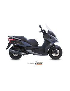 Escape completo Kawasaki J300 2014-2016 Kymco Downtown 300 2009-2012 Mivv Stronger Black O.005.LBSC