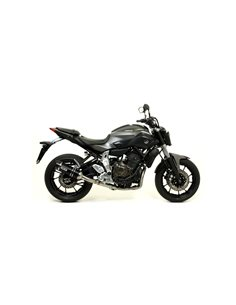 Escape Arrow 71817AKN Yamaha MT-07 Thunder aluminio negro punta carbono