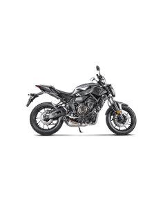 Escape completo Yamaha MT-07 2014-2020 Tracer 700 2016-2019 XSR 700 2016-2020 Akrapovic S-Y7R5-HEGEH titanio