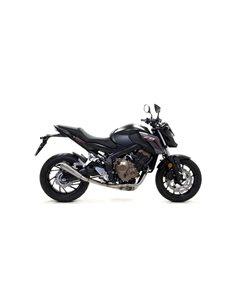 Escape Honda CB650F CBR650F 2014-2018 Arrow 71205PR Pro-Race Titanio