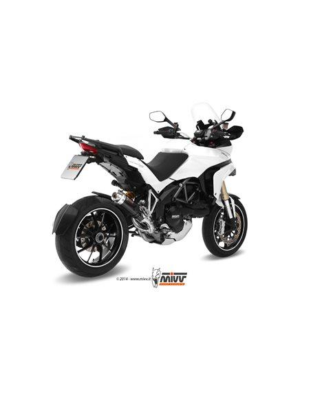Escape Ducati Multistrada 1200 2010-2014 Mivv GP Acero Inox Negro D.027.LXB