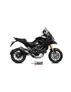 Escape Ducati Multistrada 1200 2010-2014 Mivv Delta Race Acero Inox Negro D.027.LDRB