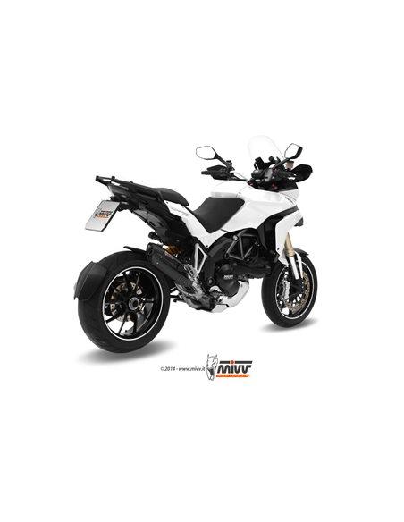 Escape Ducati Multistrada 1200 2010-2014 Mivv Suono Acero Inox Negro D.027.L9