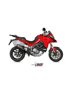 Escape + Tubo no Kat Ducati Multristada 1200 2015-2017 1260 2018-2019 Mivv Delta Race Inox D.033.SDRX