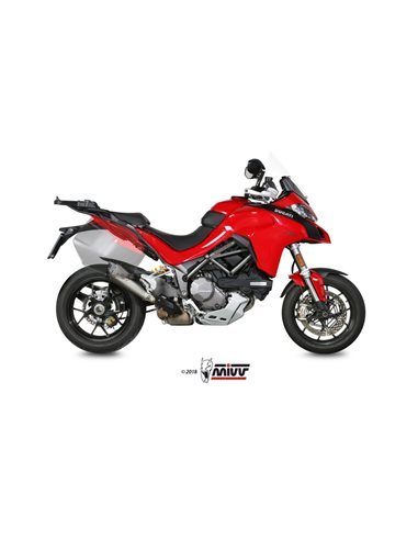 Escape Ducati Multristada 1200 2015-2017 1260 2018-2019 Mivv Delta Race Acero Inox D.034.LRDX