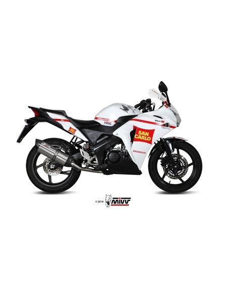 Escape Mivv H.060.L7 Honda CBR 125 R del 2011-2016 Suono Inox