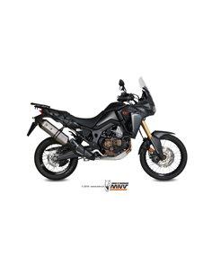 Escape Honda CRF1000L Africa Twin 2016-2019 Mivv Speed Edge Acero Inox H.059.LRX