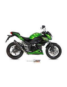 Escape Mivv K.038.L9 Kawasaki Z300 del 2015-2016 Suono Inox Black