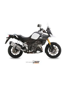 Escape Suzuki DL V-Strom 1000 2014-2018 Mivv S.042.LRX Speed Edge Inox