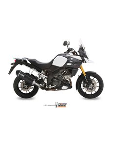 Escape Mivv S.042.LRB Suzuki DL V-Strom 1000 del 2014 Speed Edge Inox Black