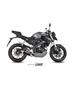 Escape completo Yamaha MT-125 2015-2019 YZF R125 2014-2018 Mivv GP Acero Inox Negro Y.047.LXB