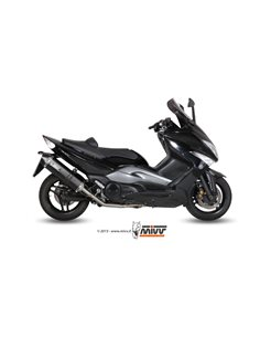 Escape completo Yamaha T-MAX 500 2008-2011 Mivv Speed Edge Y.035.LRB Inoxidable negro