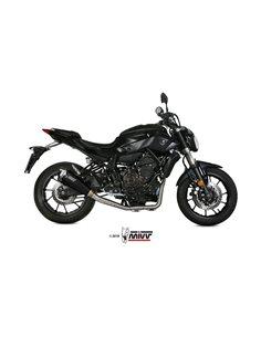 Escape completo  Yamaha MT-07 2014-2019 Mivv Y.045.LDRB Delta Race Acero inox Black Alto