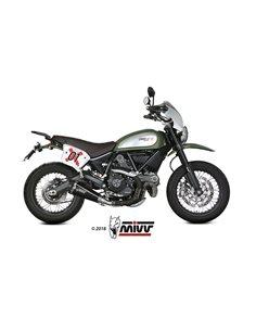 Escape Ducati Scrambler 800 2015-2018 Mivv Delta Race Acero Inox Negro D.035.LDRB