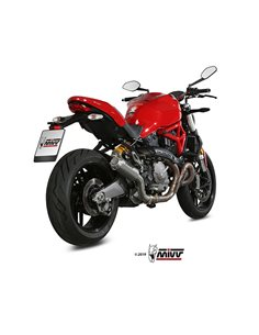 Escape Ducati Monster 821/1200 2017-2019 Mivv MK3 Acero Inox D.041.SM3X