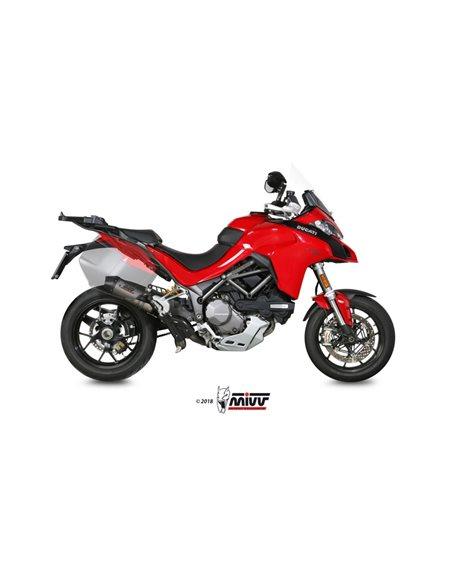 Escape Ducati Multistrada 1200 2015-2017 1260 2018-2019 Mivv D.033.S4C Oval Titanio + Tubo No Kat