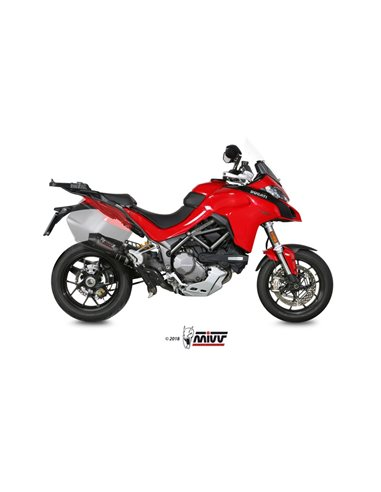 Escape Ducati Multistrada 1200 2015-2017 1260 2018-2019 Mivv D.033.S3C Oval Carbono + Tubo No Kat