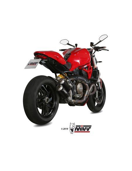 Escape Ducati Monster 1200 2014-2016 Mivv MK3 Acero Inox Negro D.040.SM3B