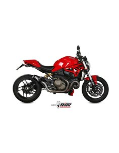 Escape Ducati Monster 1200 2014-2017 Mivv MK3 Acero Inox Black D.030.SM3B
