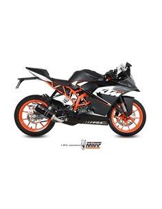 Escape KTM RC 125 2014-2016 Mivv GP Pro Inox Negro KT.016.LXB