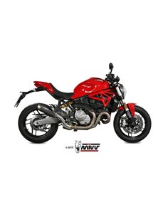 Escape Ducati Monster 821 2018-2019 1200 2017-2019 Mivv GP Pro Inox Negro D.041.LXBP