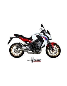 Escape completo Honda CB650F 2014-2018 Mivv H.055.SM3B MK3 Acero inox Negro