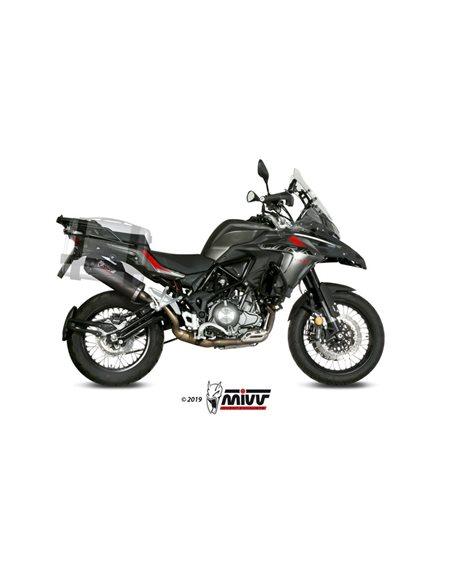 Escape Benelli TRK 502 X 2018-2019 Mivv Oval Carbono E.004.LEC