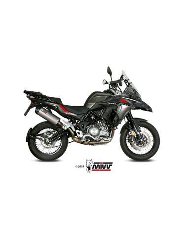 Escape Benelli TRK 502 X 2018-2019 Mivv Oval Titanio E.004.LNC
