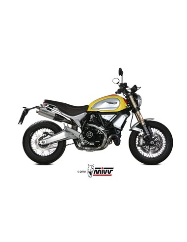 Escape Ducati Scrambler 1100 2018-2019 Mivv GP Pro Titanio D.038.L6P