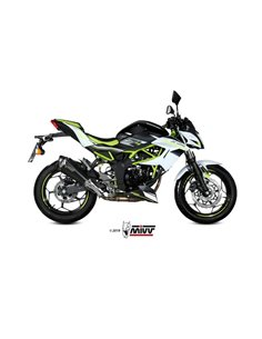 Escape Kawasaki Z125 Ninja 125 2019 Mivv Delta Race Acero Inox Negro K.048.LDRB