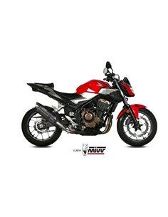 Escape Honda CB500F 2019 Mivv Suono Acero Inox Negro H.075.L9