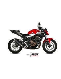 Escape Honda CB500F 2019-20200 Mivv GP Pro Acero Inox Negro H.075.LXBP