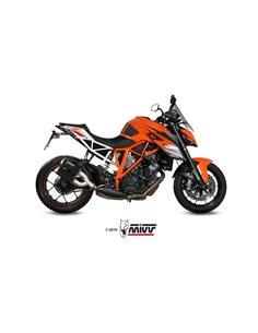 Escape KTM 1290 Superduke 2014-2019 Mivv MK3 Acero Inox Negro 2 Salidas KT.022.LM3B