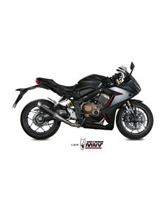 Escape completo Honda CB650R CBR650R 2019 Mivv GP Pro Inox Black H.072.LXBP