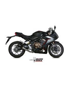 Escape completo Honda CB650R CBR650R 2019 Mivv MK3 Acero Inox Black H.072.SM3B