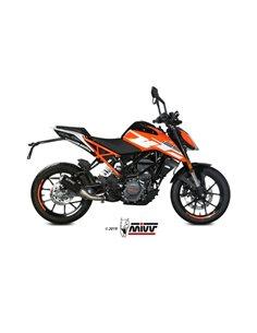 Escape KTM 125 Duke 2017-2019 Mivv MK3 Acero inox Negro KT.019.SM3B