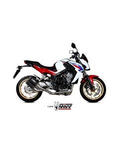 Escape completo Honda CB650F 2014-2018 Mivv MK3 Twin Carbono H.073.SM3C