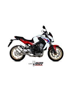 Escape completo Honda CB650F 2014-2018 Mivv MK3 Twin Acero Inox H.073.SM3X